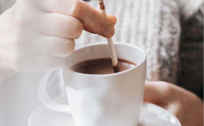 Le plaisir du chocolat chaud