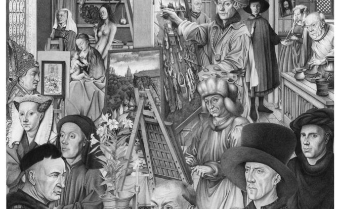 Van Eyck, dessin Pierre Gillis